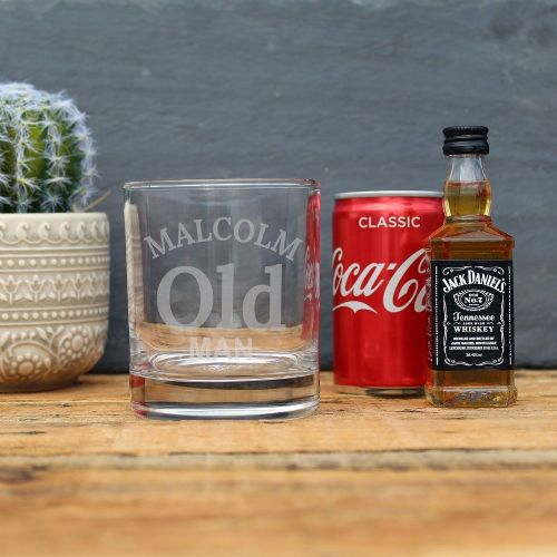 Old Man JD Whiskey Gift Set